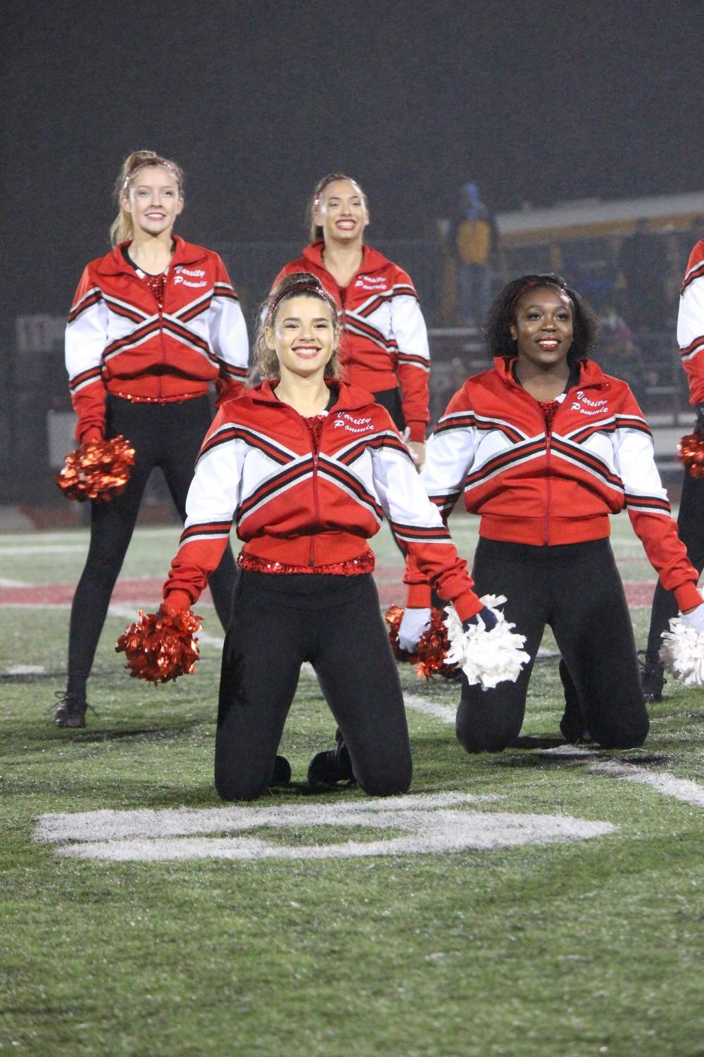 While+the+pommies+performed+their+halftime+show+at+the+boys+varsity+football+game%2C+junior%2C+Sara+Mattingly+strikes+a+pose+Oct+26.
