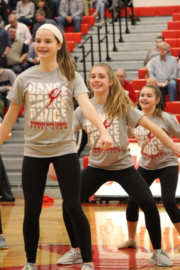 During the pommies halftime show, members of the dance kiddie camp perform a routine Feb. 1.