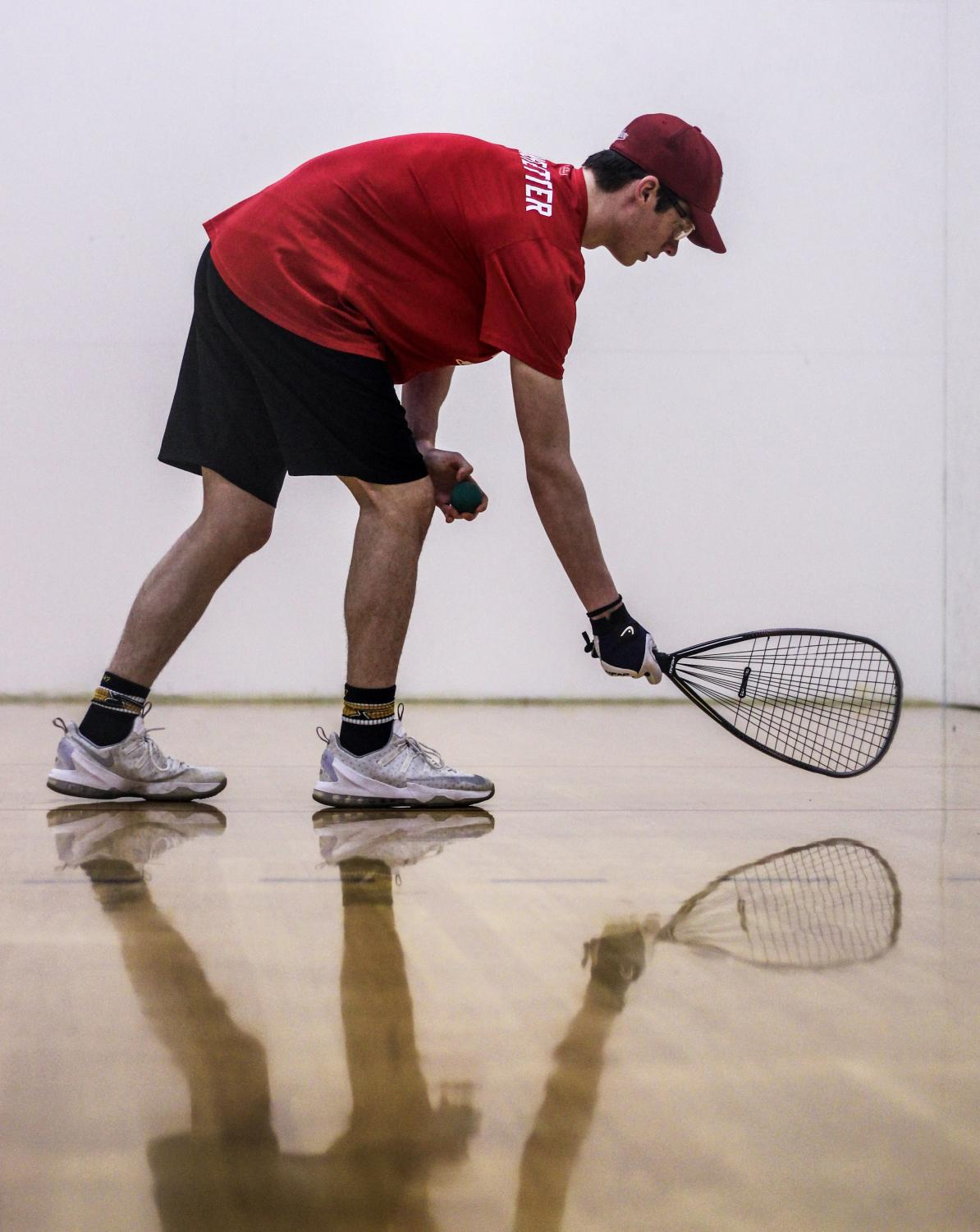 Getting+ready+to+serve%2C+Grant+Branstetter%2C+senior%2C+competes+in+a+racquetball+tournament+Feb.+20.