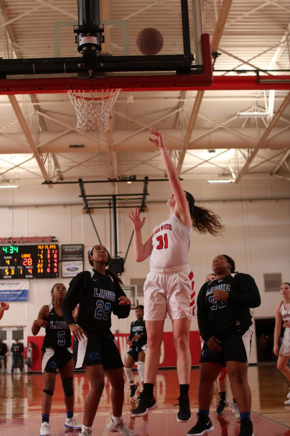 Abby+Ludbrook%2C+senior+goes+for+a+lay+up+during+the+girls+varsity+basketball+game+Dec.+7.+