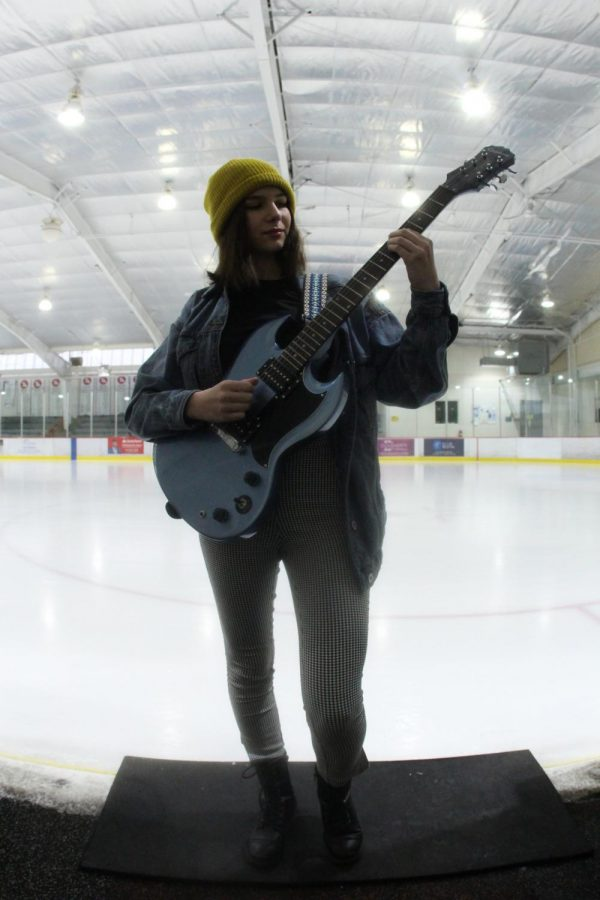 During a Blues game, Avery Hardin, Senior, and her band got the chance to perform in front of the Enterprise Center, Dec. 29 2019.